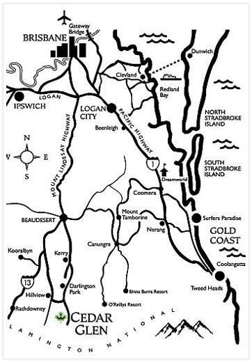 Cedar Glen Farmstay - Directions