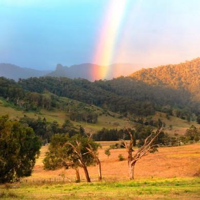 End of the rainbow at Cedar Glen